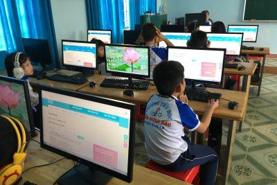 Cuộc thi IOE qua mạng Internet cấp trường cho học sinh khối lớp 3, 4, 5